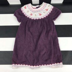 5 for $25 Janie & Jack Purple Floral Sweater Dress